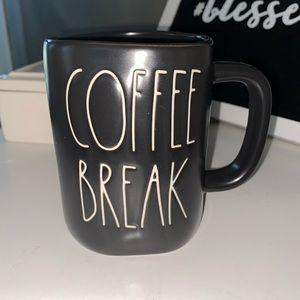 NWT Rae Dunn Black Coffee Break Mug